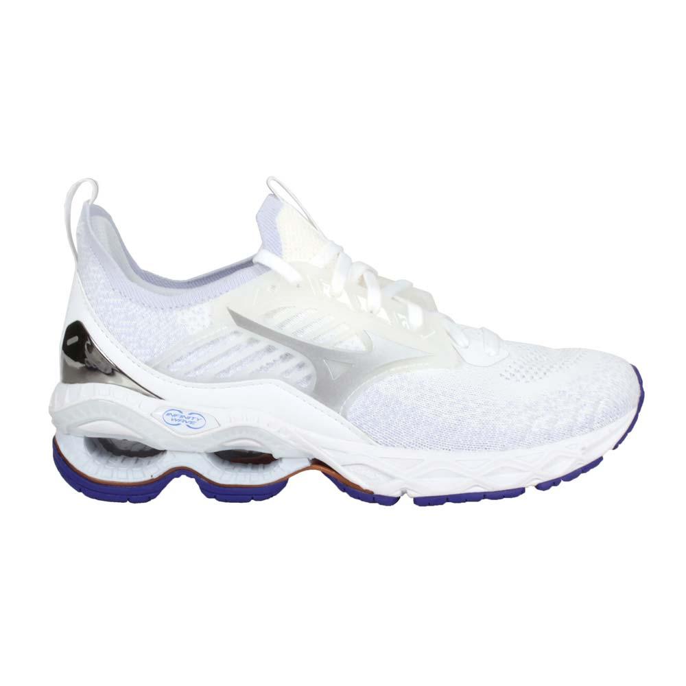 MIZUNO WAVE CREATION 22 WAVEKNIT女慢跑鞋 白紫銀@J1GD213367@