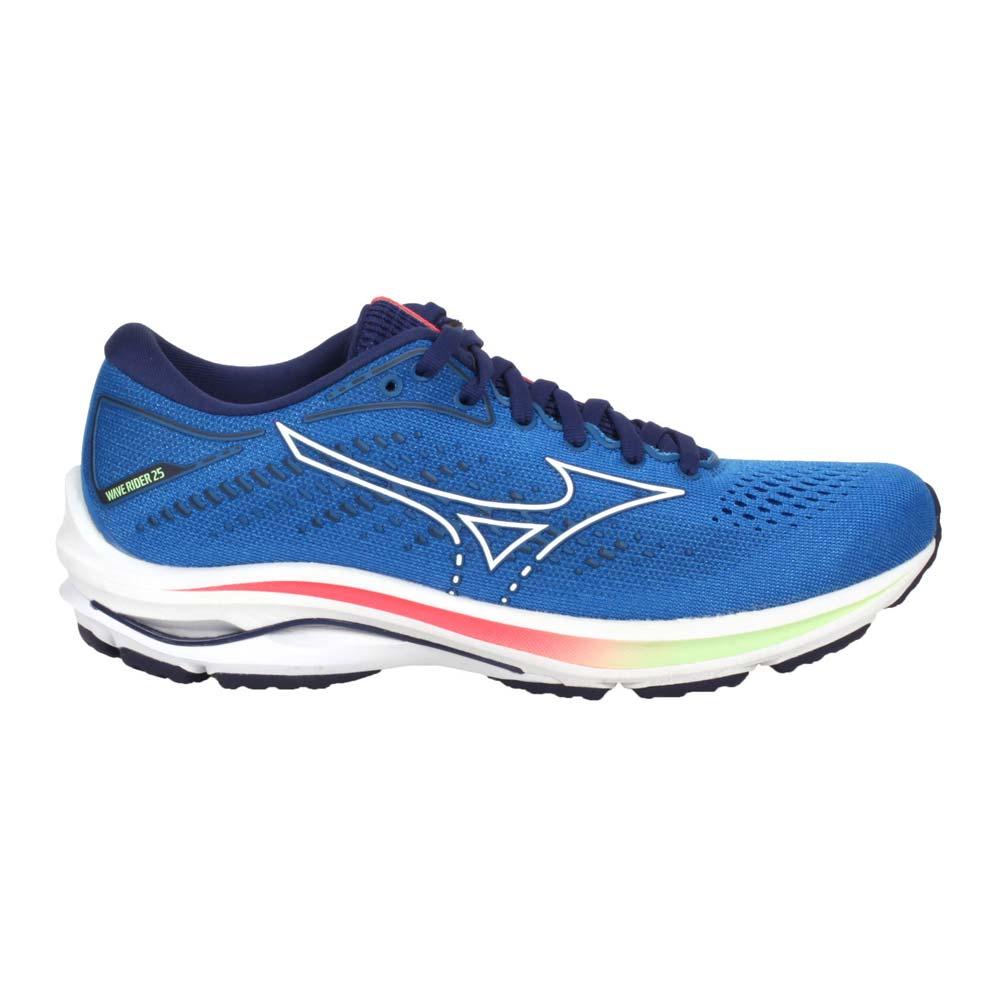 MIZUNO WAVE RIDER 25 女慢跑鞋-路跑 避震 美津濃 藍綠紅@J1GD210387@