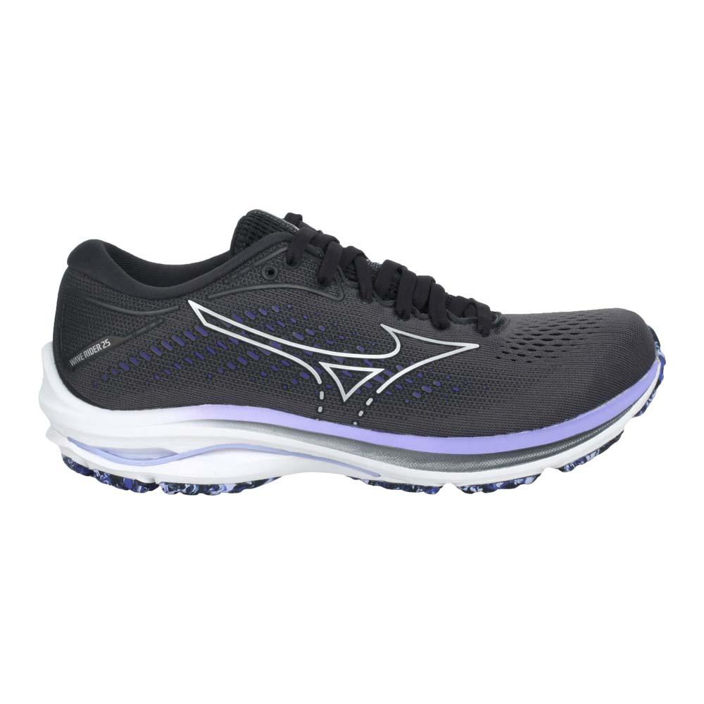 MIZUNO WAVE RIDER 25 WIDE 女慢跑鞋-4E-美津濃 鐵灰紫@J1GD210693@