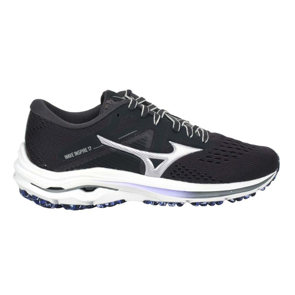 MIZUNO WAVE INSPIRE 17 女慢跑鞋-路跑 避震 美津濃 深灰紫@J1GD214493@