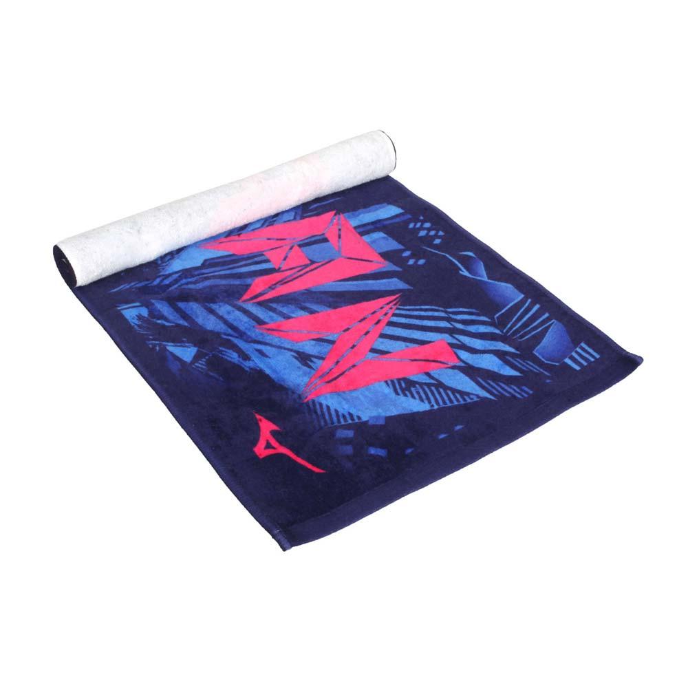 MIZUNO 運動毛巾-純棉 日製 海邊 游泳 戲水 慢跑 運動 美津濃 藍丈青桃紅@32JY050520@