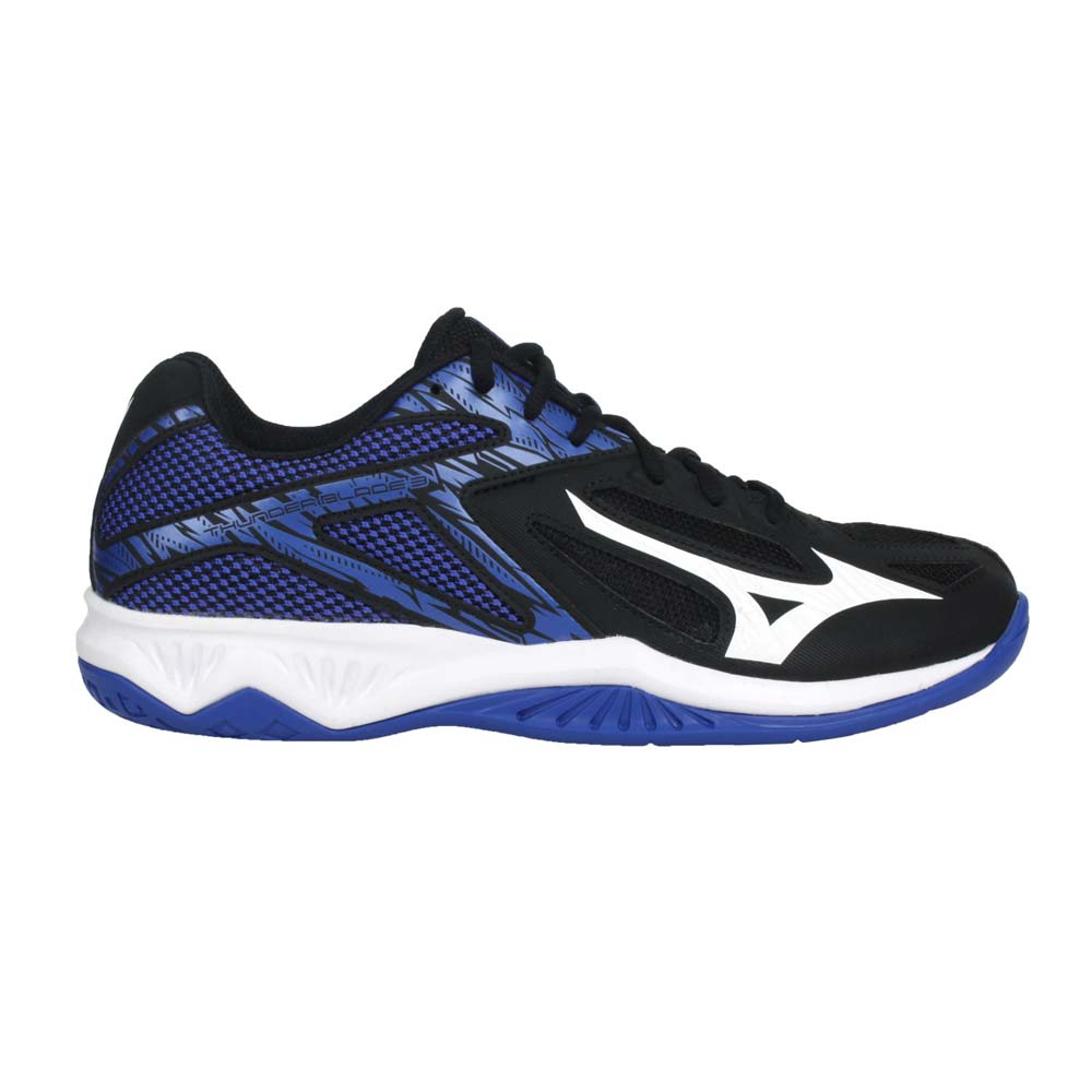 MIZUNO MIZUNO THUNDER BLADE 3 男女排球鞋(免運 2.5E 美津濃 黑白@V1GA217003@