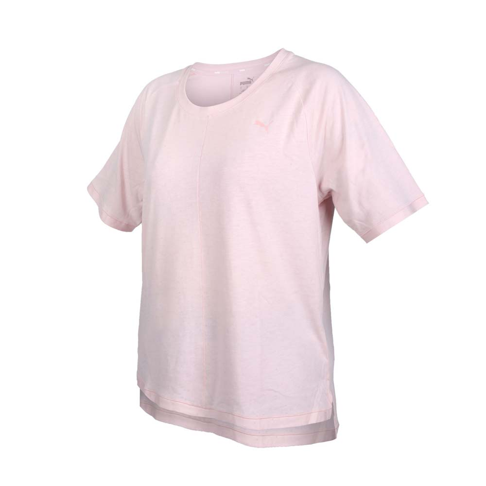 PUMA 女瑜珈系列STUDIO寬鬆短袖T恤-歐規 吸濕排汗 運動 上衣 粉紅@52109336@