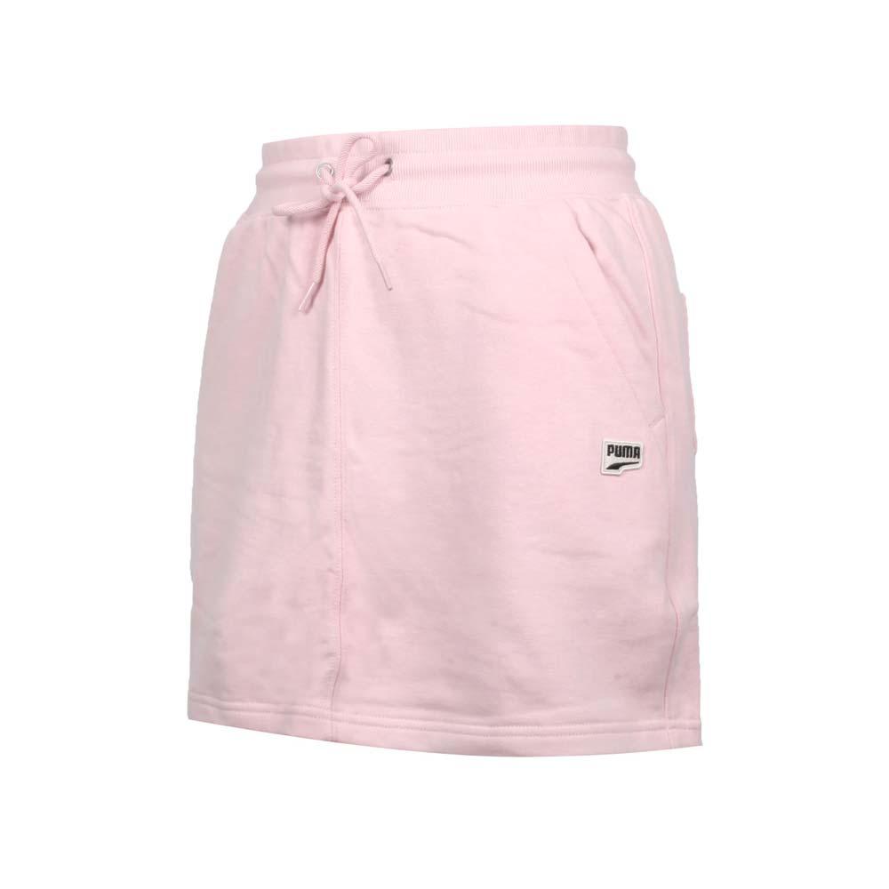 PUMA 女流行系列DOWNTOWN短裙-歐規 純棉 休閒 裙子 粉紅黑@53169436@