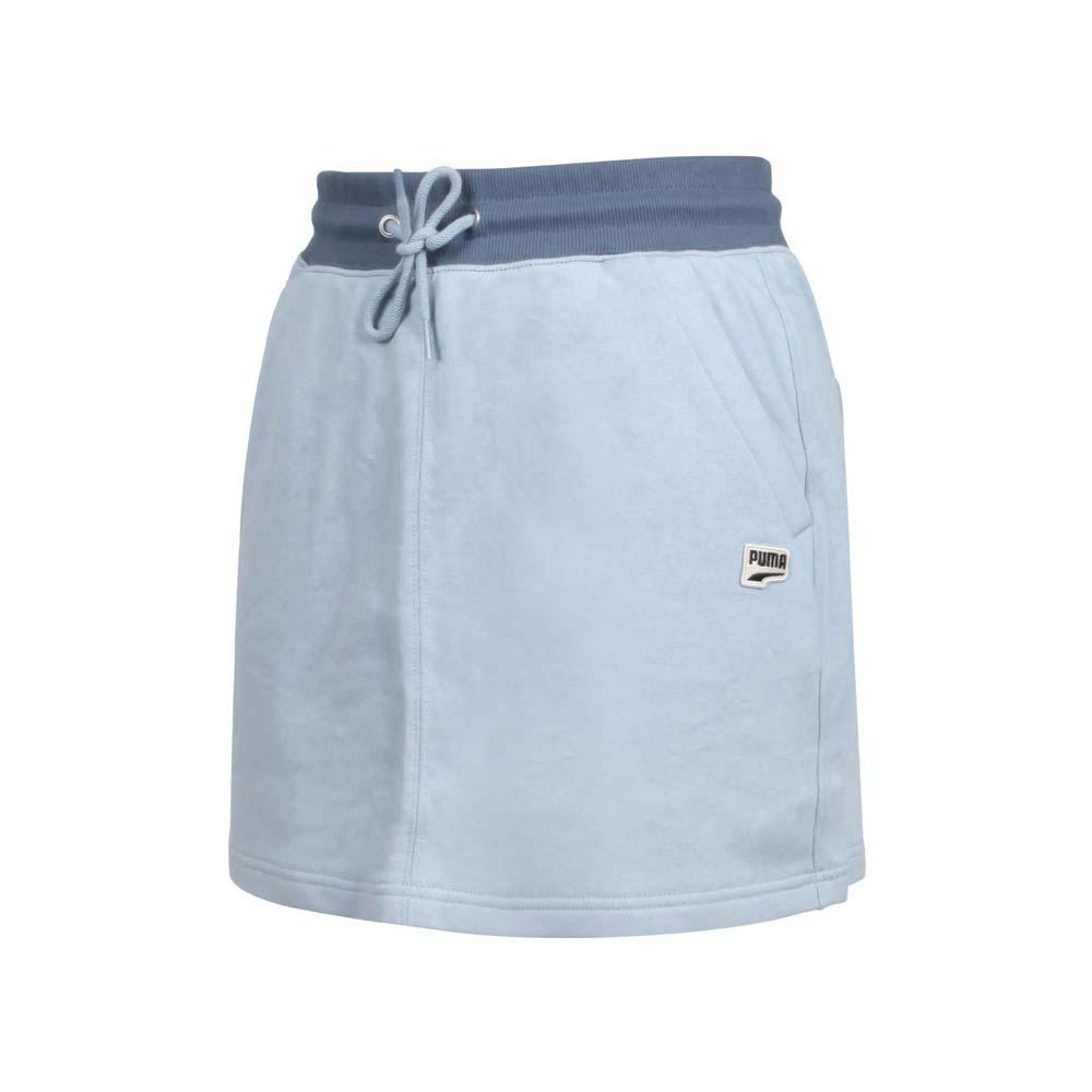 PUMA 女流行系列DOWNTOWN短裙-歐規 純棉 休閒 裙子 藍黑@53169461@