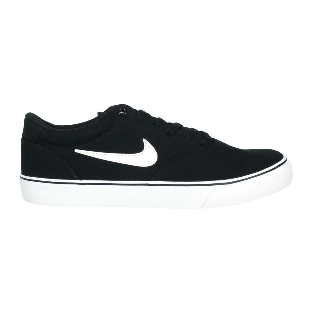 NIKE SB CHRON 2 CNVS 男休閒運動鞋-低筒 滑板鞋 黑白@DM3494001@