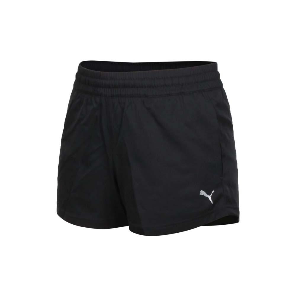 PUMA 訓練系列ESS女3吋短風褲-吸濕排汗 平織 三分褲 運動 慢跑 路跑 黑白@52031201@