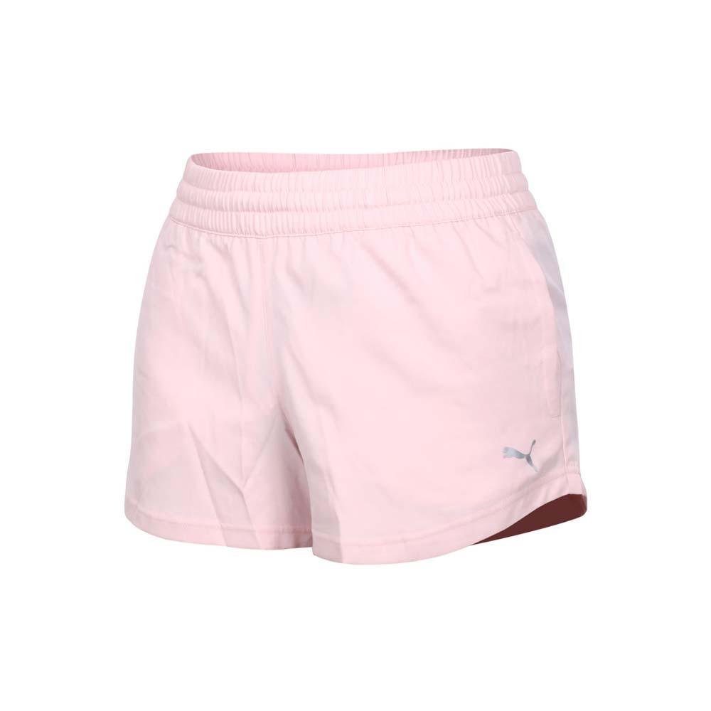 PUMA 女3吋短風褲-吸濕排汗 平織 三分褲 運動 慢跑 路跑 粉紅銀@52048836@