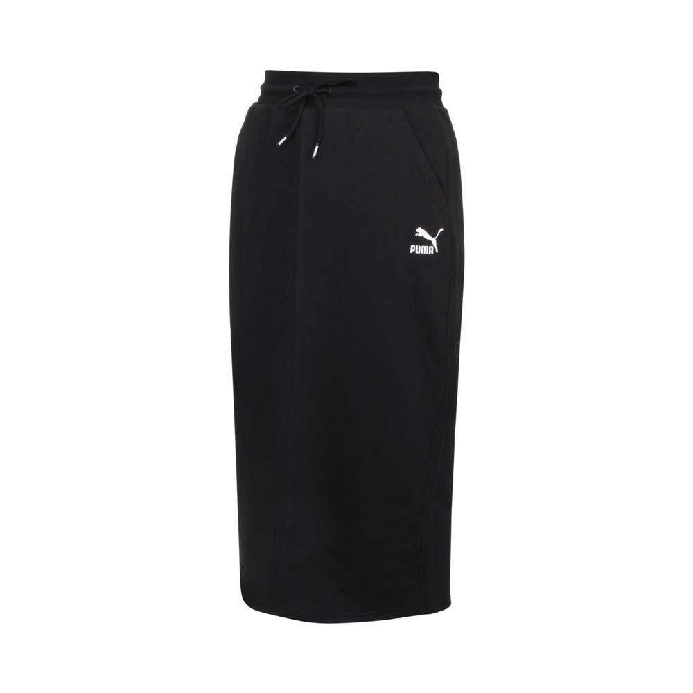 PUMA 女流行系列CLASSICS中長裙-歐規 針織 休閒 裙子 黑白@53161701@