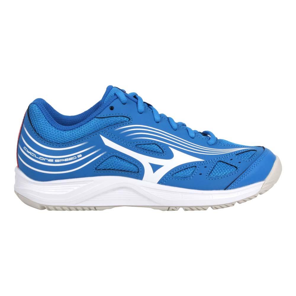MIZUNO CYCLONE SPEED 3 男女排球鞋-運動 訓練 美津濃 寶藍白@V1GA218024@