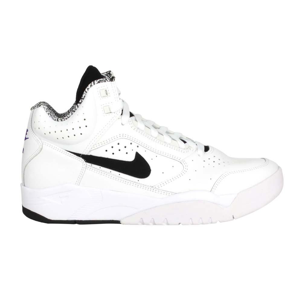 NIKE AIR FLIGHT LITE MID  男籃球鞋-中筒 訓練 白黑紫@DJ2518-100@