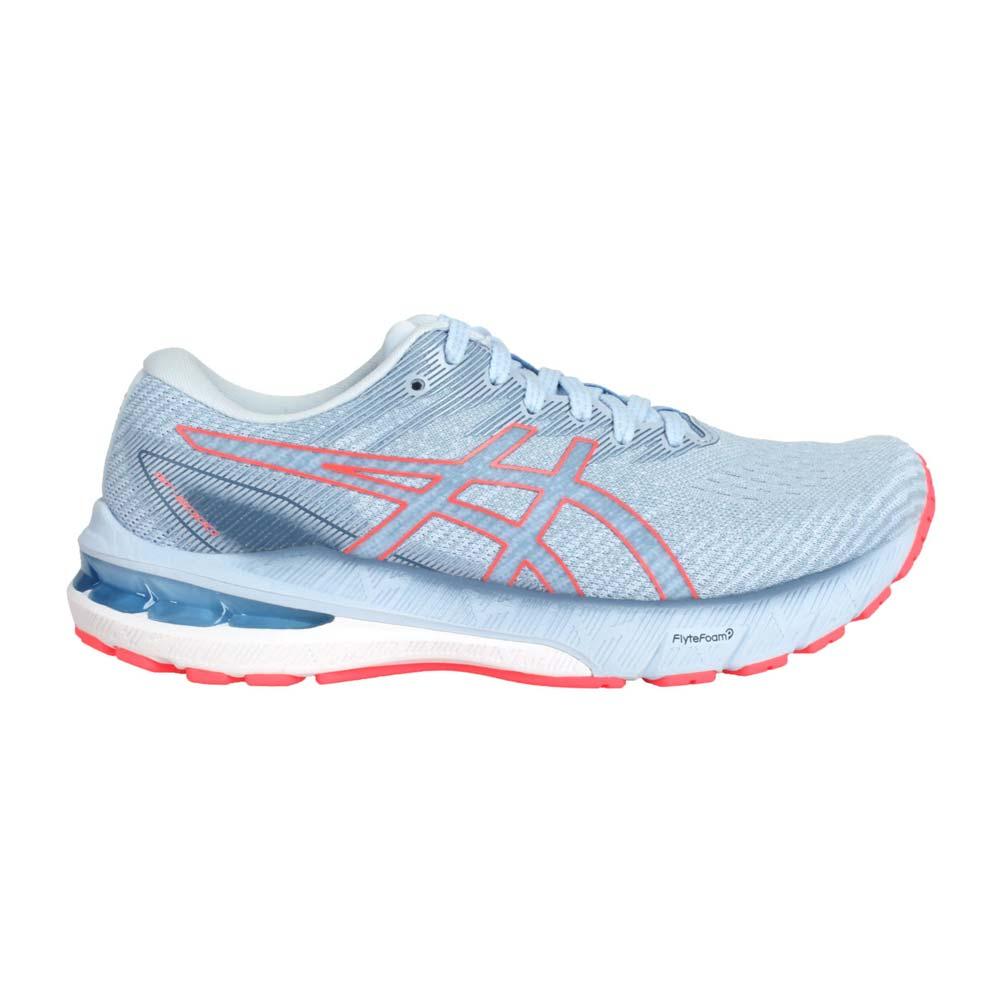 ASICS GT-2000 10 女慢跑鞋-路跑 亞瑟膠 避震 亞瑟士 灰藍螢光橘@1012B045-401@