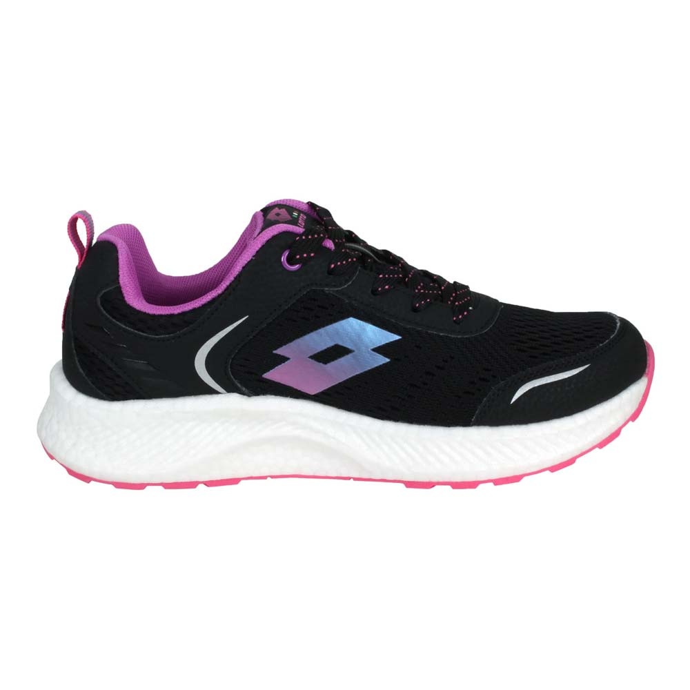 LOTTO 女創跑鞋-慢跑 路跑 運動 反光 TRON 黑紫@LT1AWR3820@