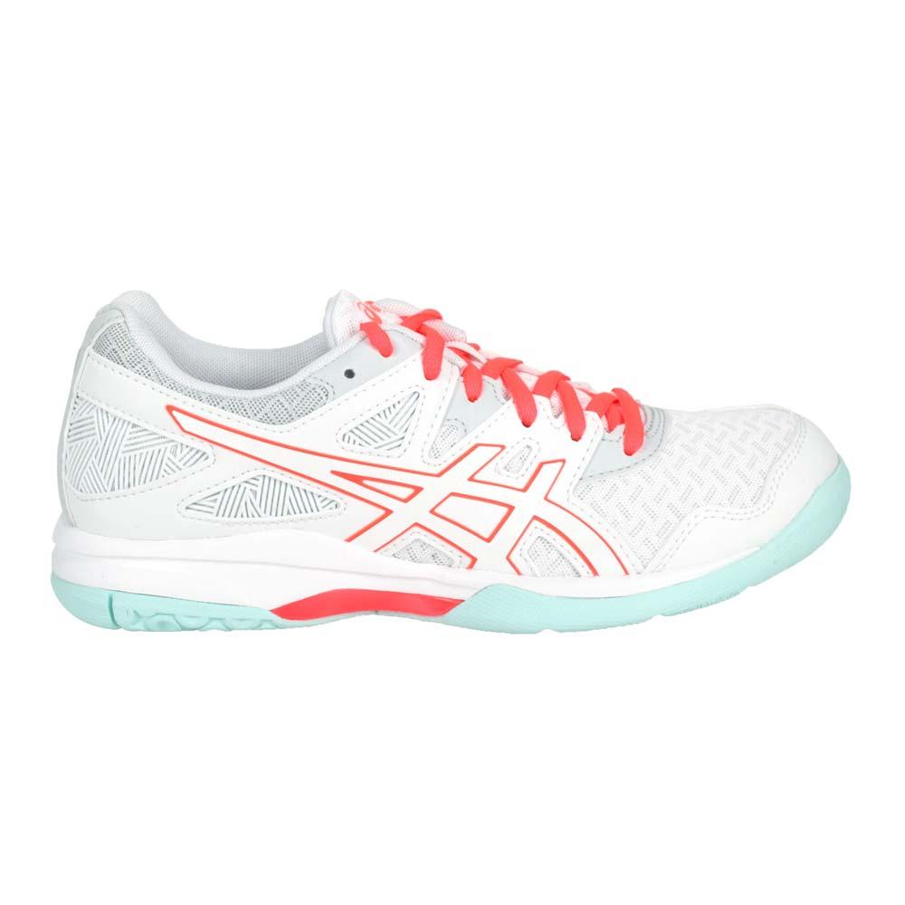 ASICS GEL-TASK 2 女排羽球鞋-排球 羽球 羽毛球 亞瑟士 白亮粉淺綠@1072A038-960@