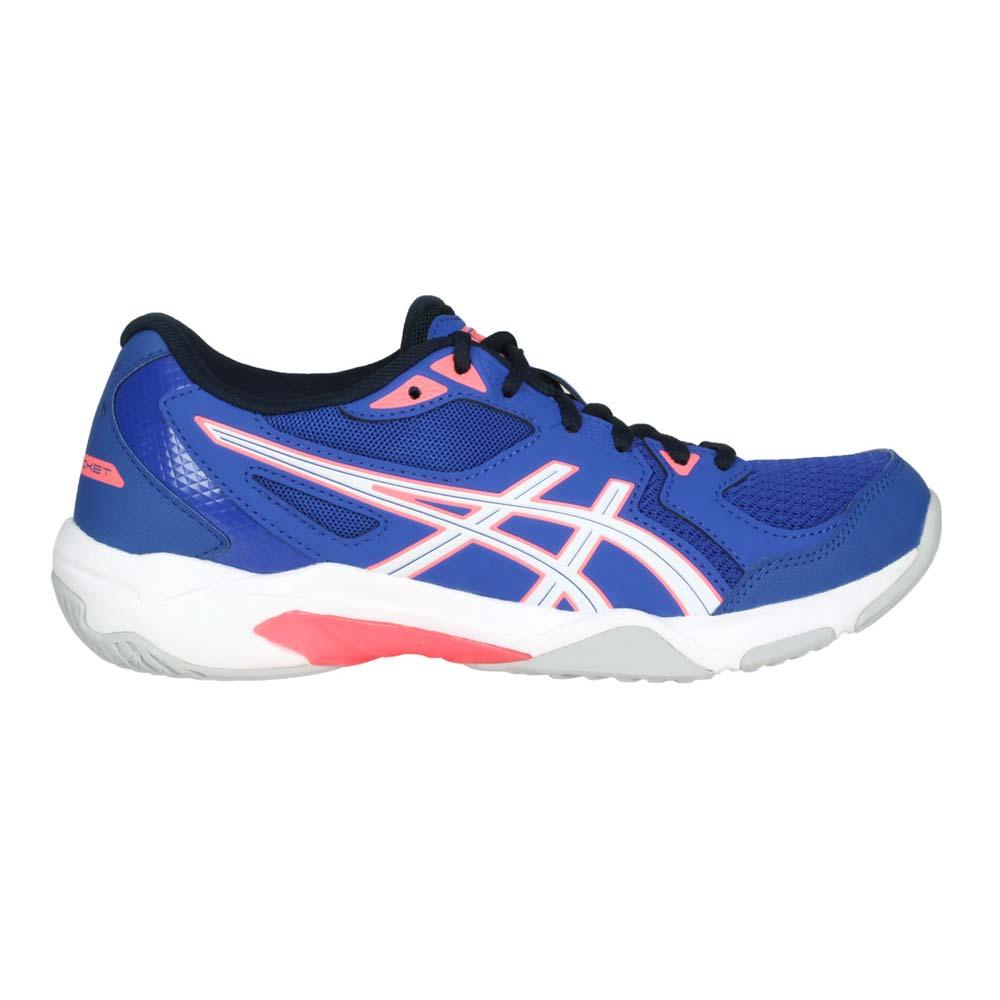 ASICS GEL-ROCKET 10 女排羽球鞋-排球 羽毛球 亞瑟士 深藍白粉@1072A056-402@