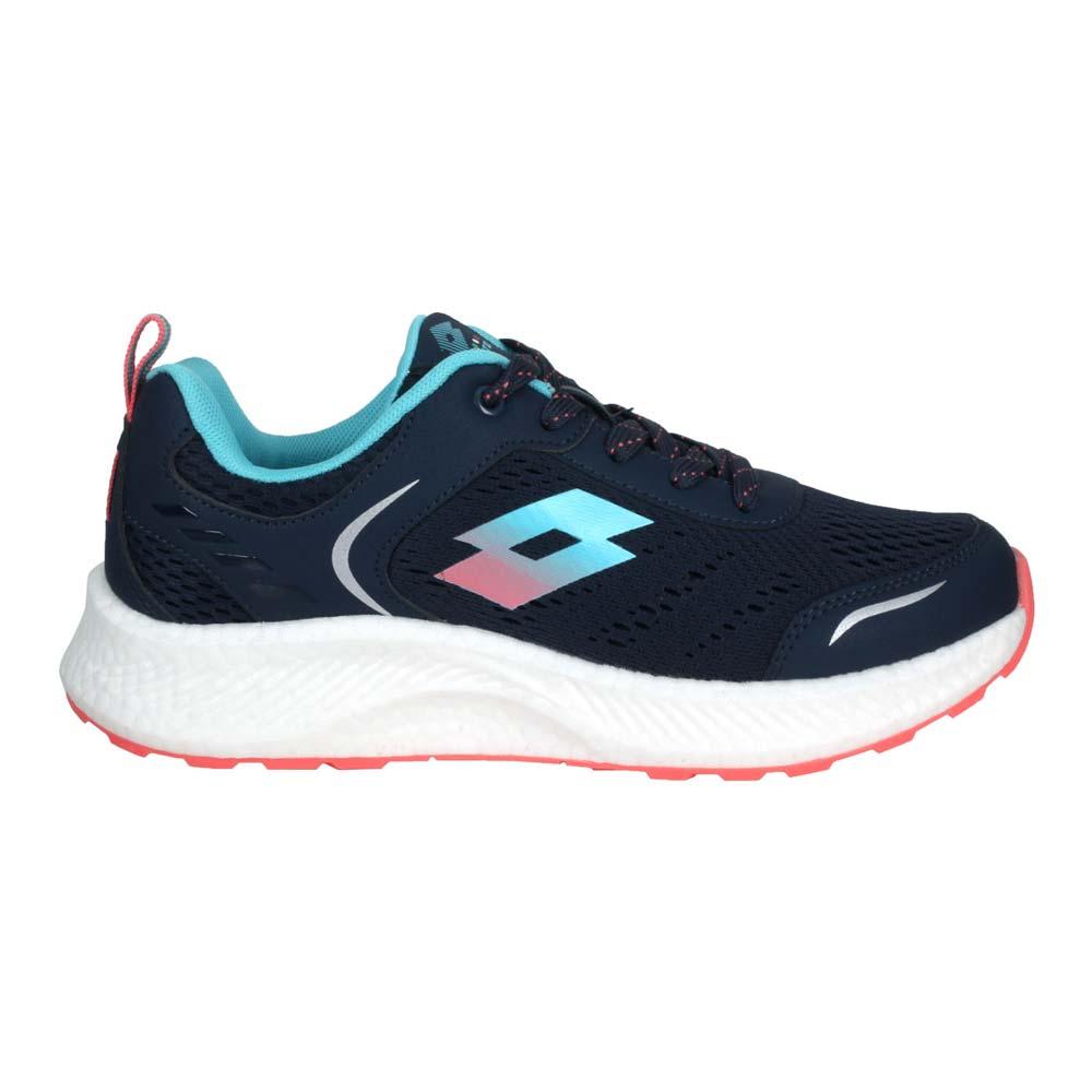 LOTTO 女創跑鞋-慢跑 路跑 運動 反光 TRON 丈青藍@LT1AWR3826@