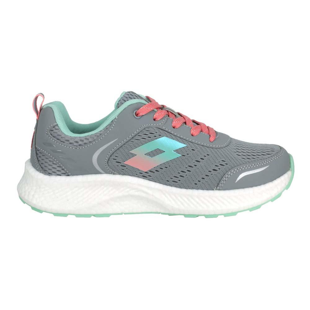 LOTTO 女創跑鞋-慢跑 路跑 運動 反光 TRON 灰淺綠粉橘@LT1AWR3828@