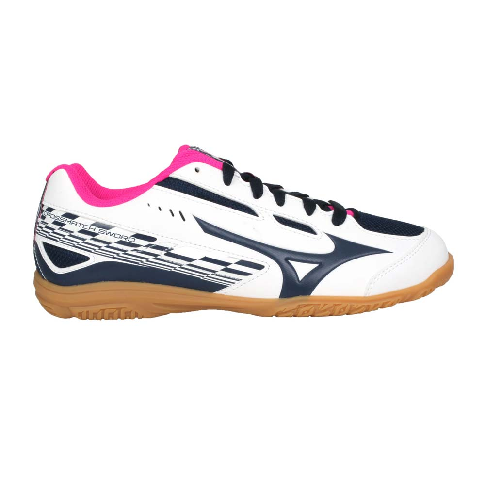 MIZUNO CROSSMATCH SWORD 女桌球鞋-訓練 美津濃 白丈青桃紅@81GA213014@