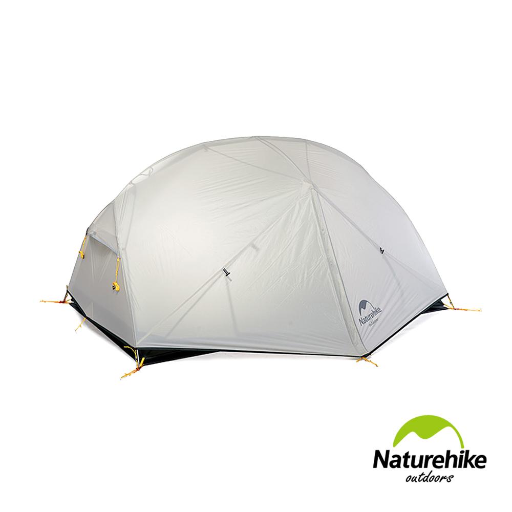 Naturehike蒙加2雙層防雨20D矽膠雙人帳篷 贈地席 淺灰