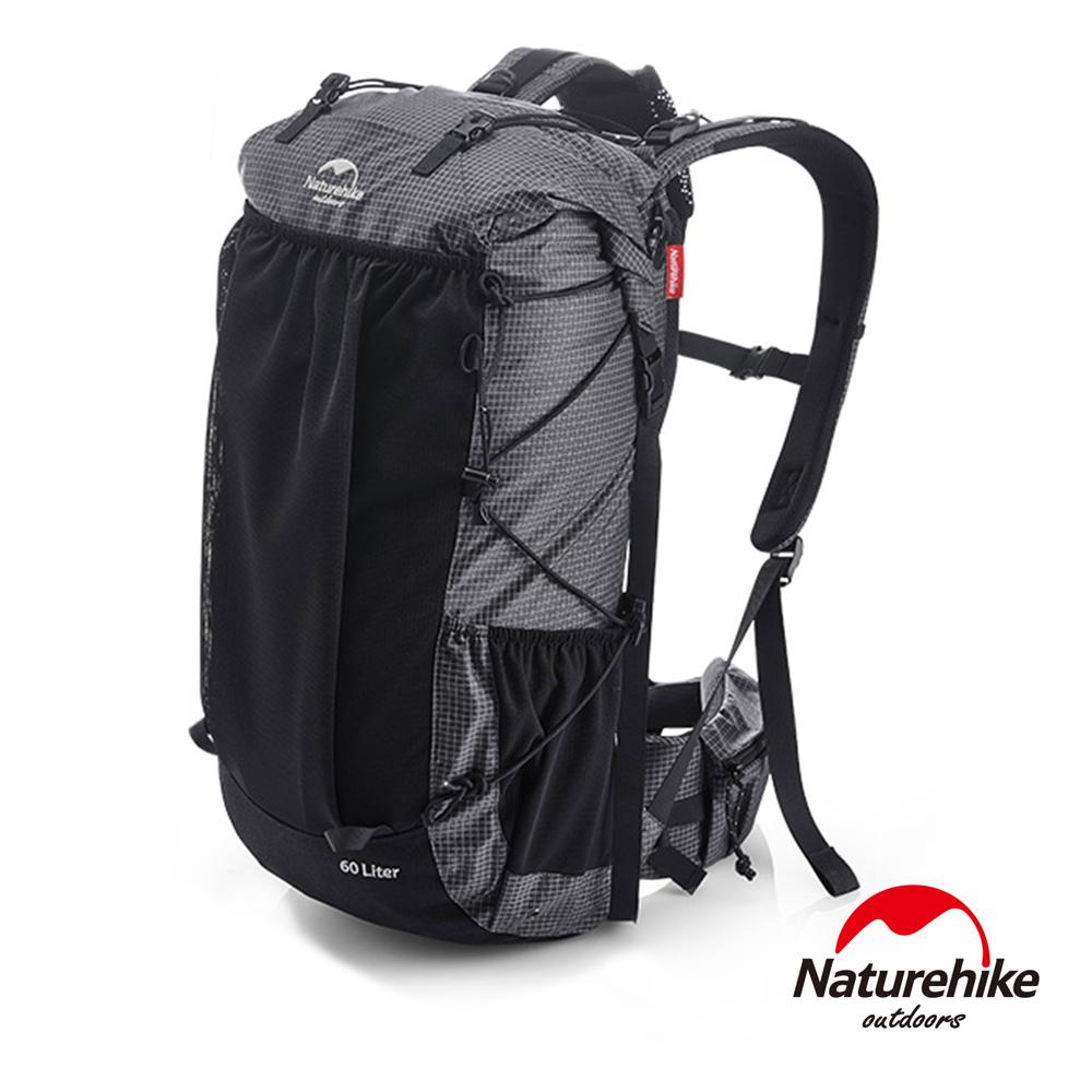 Naturehike 60+5L ROCK徒步重裝登山後背包 自助旅行包 黑色