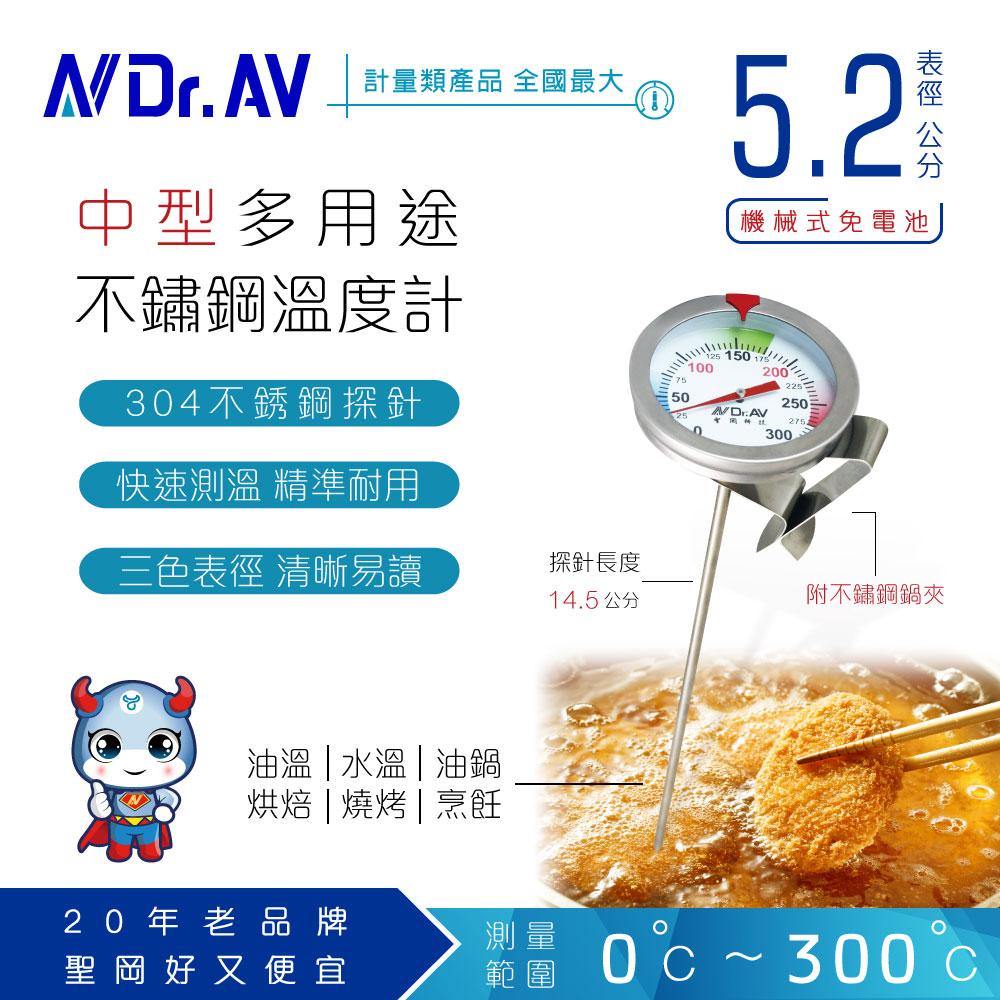 【N Dr.AV聖岡科技】GE-315D 多用途不鏽鋼溫度計