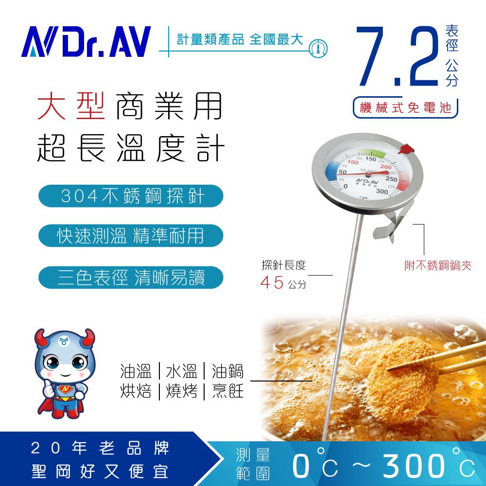 【N Dr.AV聖岡科技】GE-745D 超大表徑特長型多用途不鏽鋼溫度計