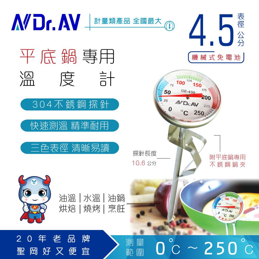 【N Dr.AV聖岡科技】GE-430 平底鍋專用溫度計