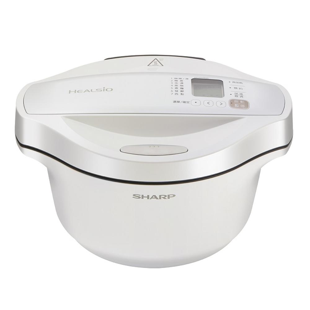 狂歡購物月【SHARP 夏普】2.4L Healsio 0水鍋 洋蔥白 KN-H24TB(W)