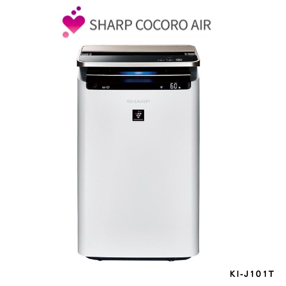 狂歡購物月【SHARP 夏普】23坪 日製原裝AIoT智慧空氣清淨機 KI-J101T-W