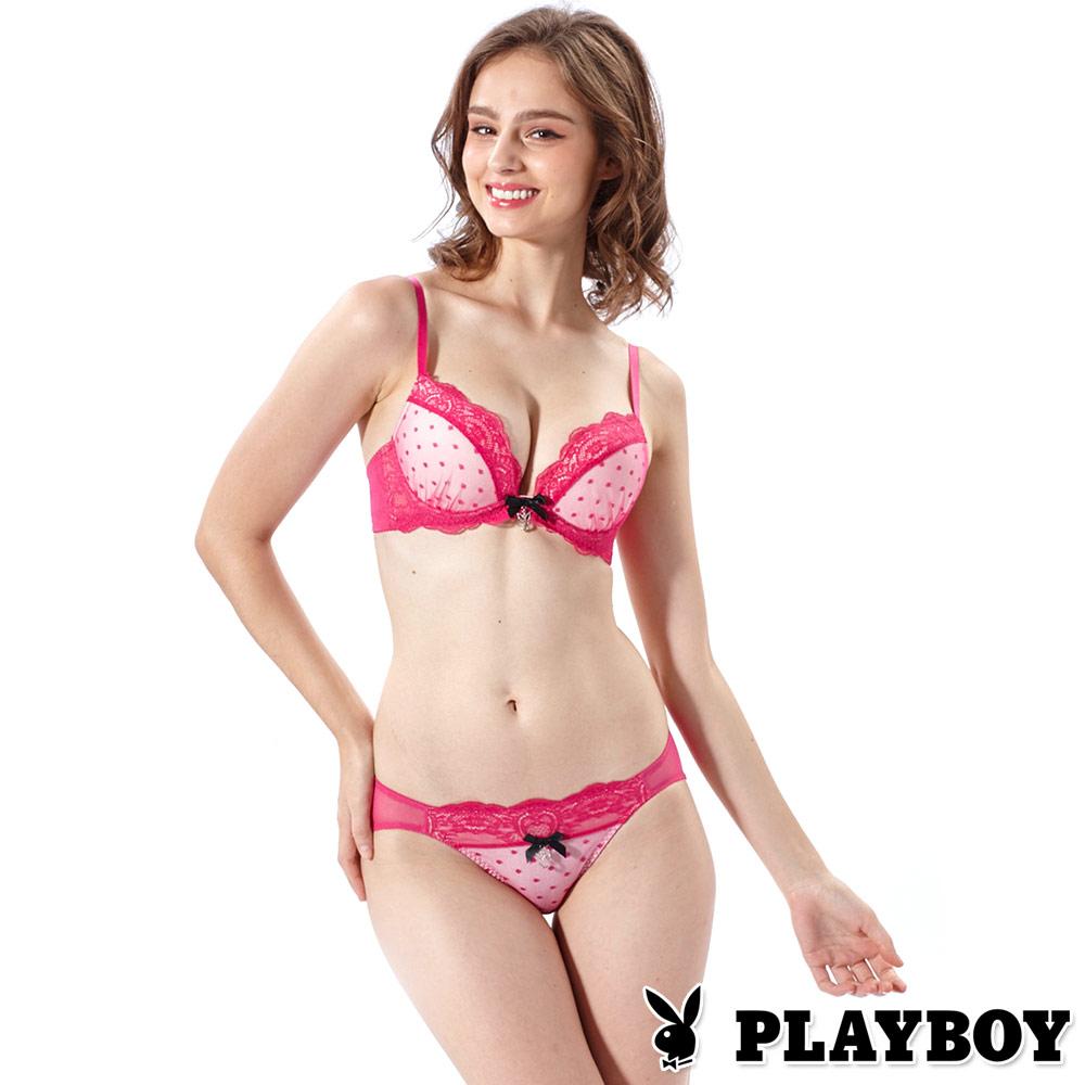 PLAYBOY內衣-極致魅惑 深V集中4分之3成套組(PL130217)