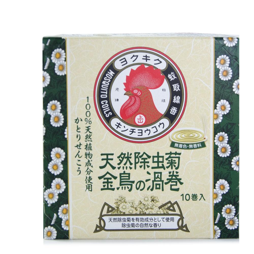 日本 KINCHO 金鳥天然除蟲菊蚊香(渦卷)10卷入