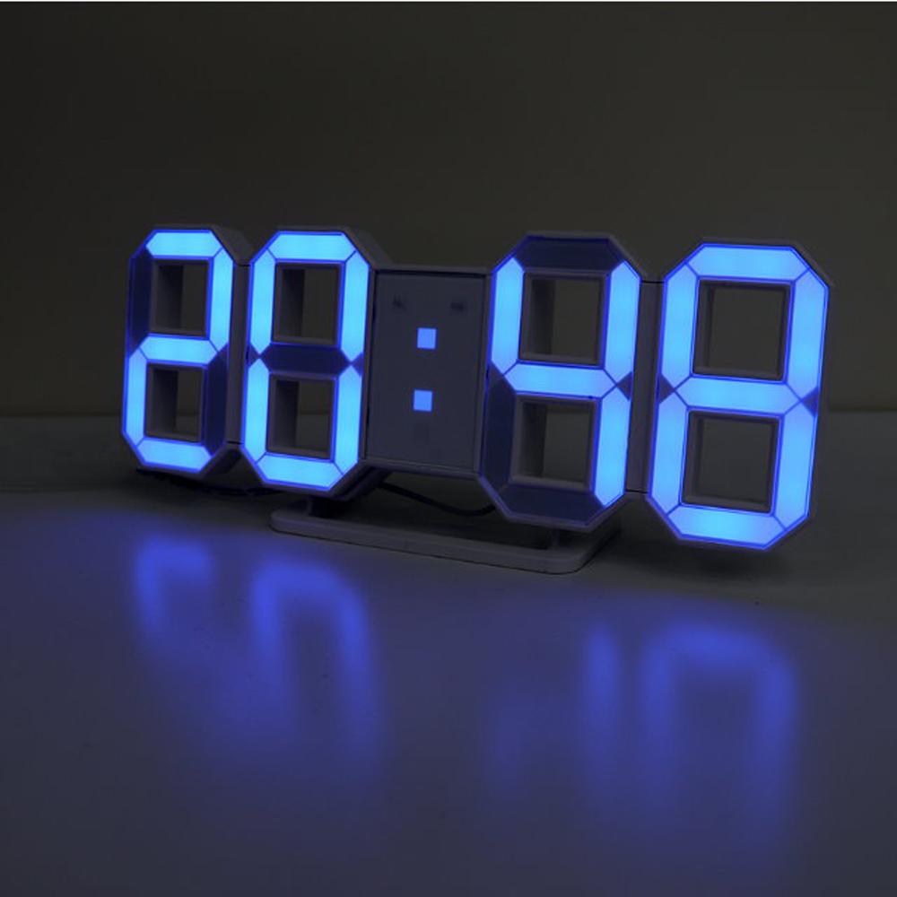 【KINYO】USB供電LED立體數字鐘 -藍光(TD-395B)