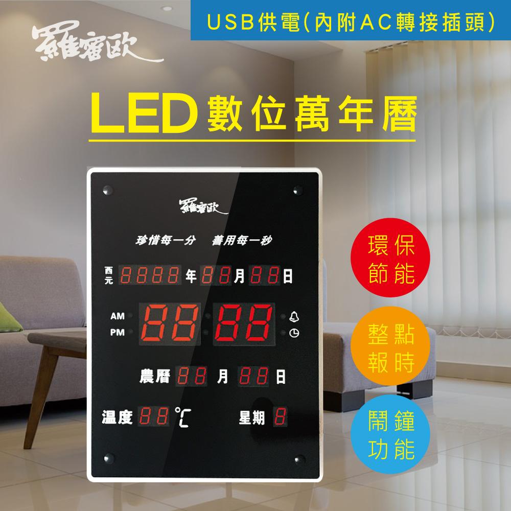 【羅蜜歐】大型直式12/24小時制LED電子萬年曆掛鐘 (NEW-788)