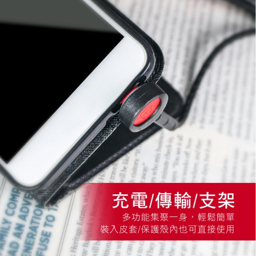 【KINYO】Micro USB手機支架充電傳輸線1.2M(USB-B17)