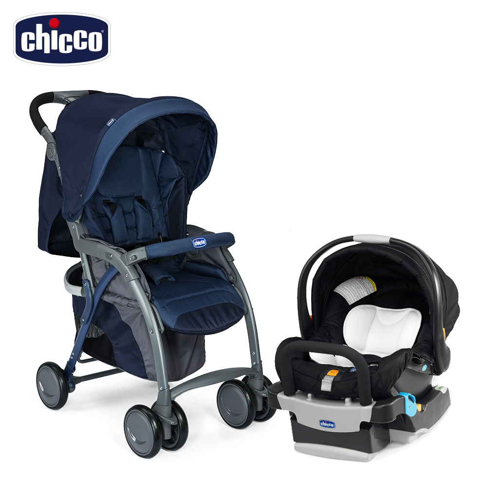 chicco-SimpliCity 都會輕便推車風格版-印墨藍