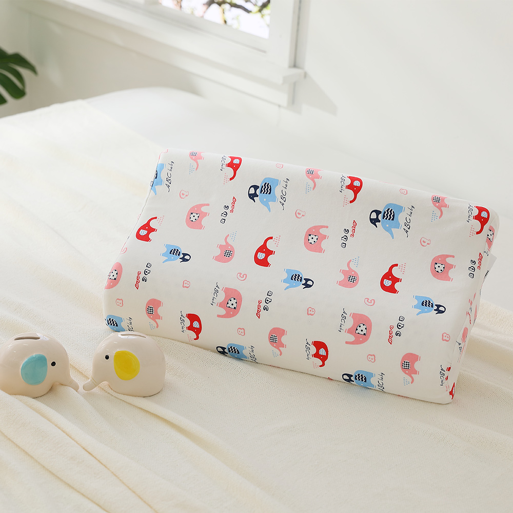 LAMINA 兒童波浪工學型天然乳膠枕-可愛小象