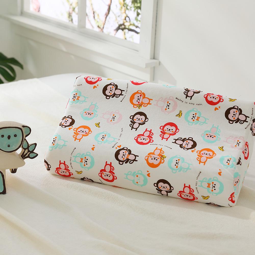LAMINA 兒童波浪工學型天然乳膠枕-歡樂猴