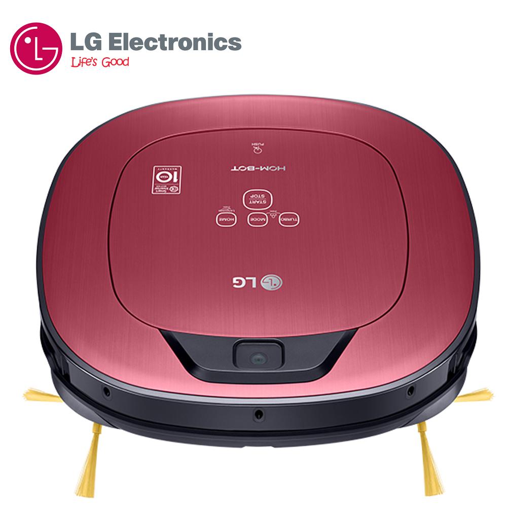 【LG 樂金】WIFI遠控 雙眼小精靈 掃地清潔機器人 (變頻版) / 典雅紅 VR66713LVM