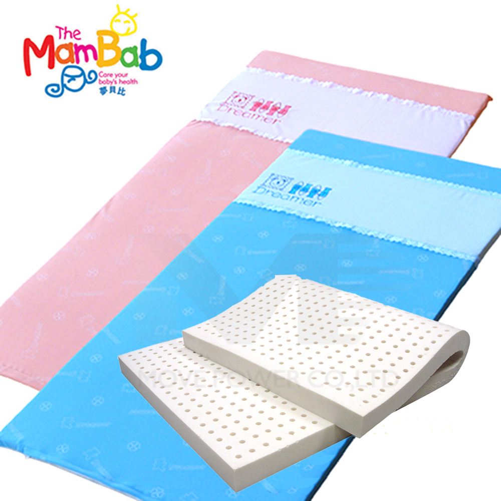 《Mambab-夢貝比》銀離子抗菌嬰兒乳膠床墊M號-雙色