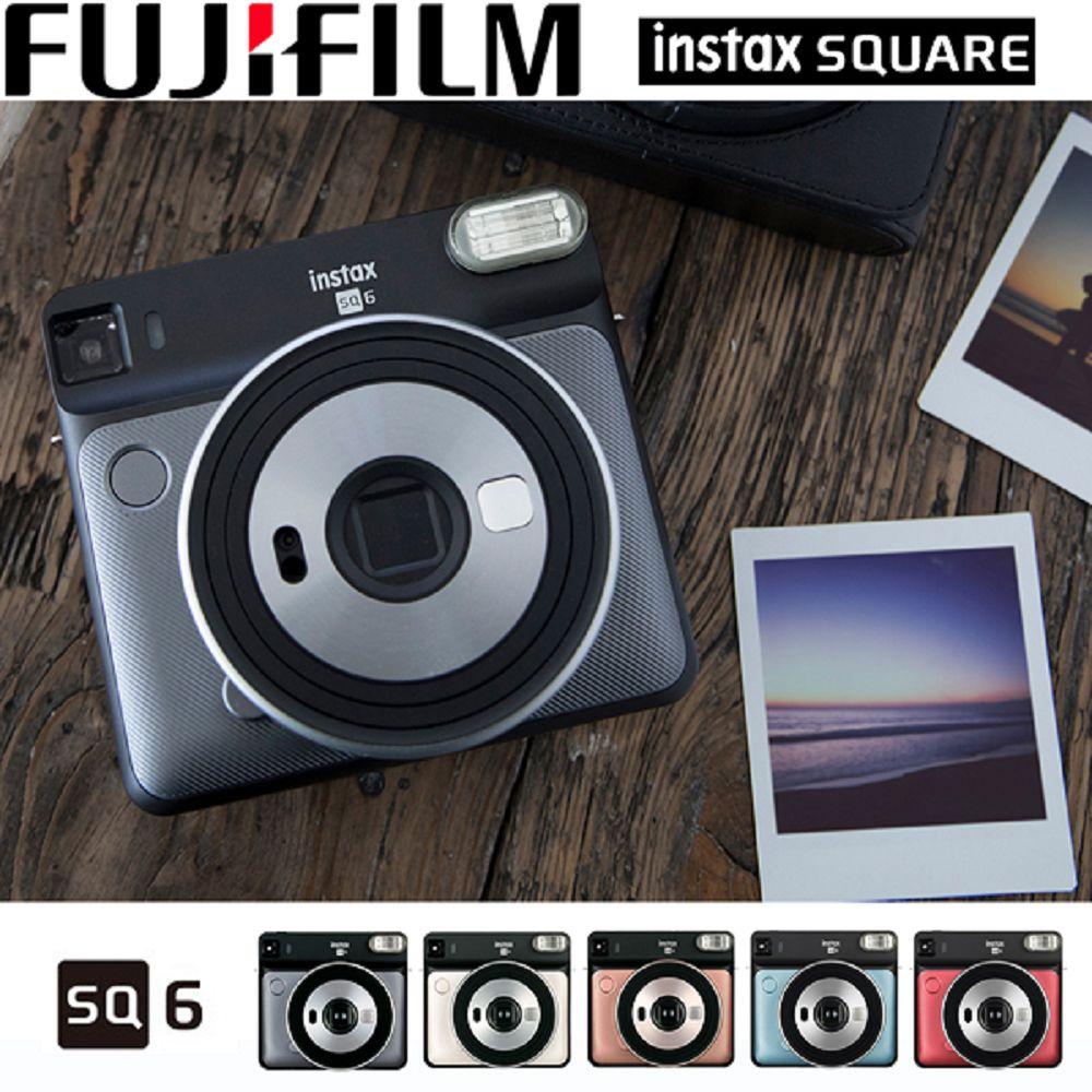 富士 FUJIFILM instax square SQ6 復古拍立得 方形相紙 公司貨-贈20張空白底片