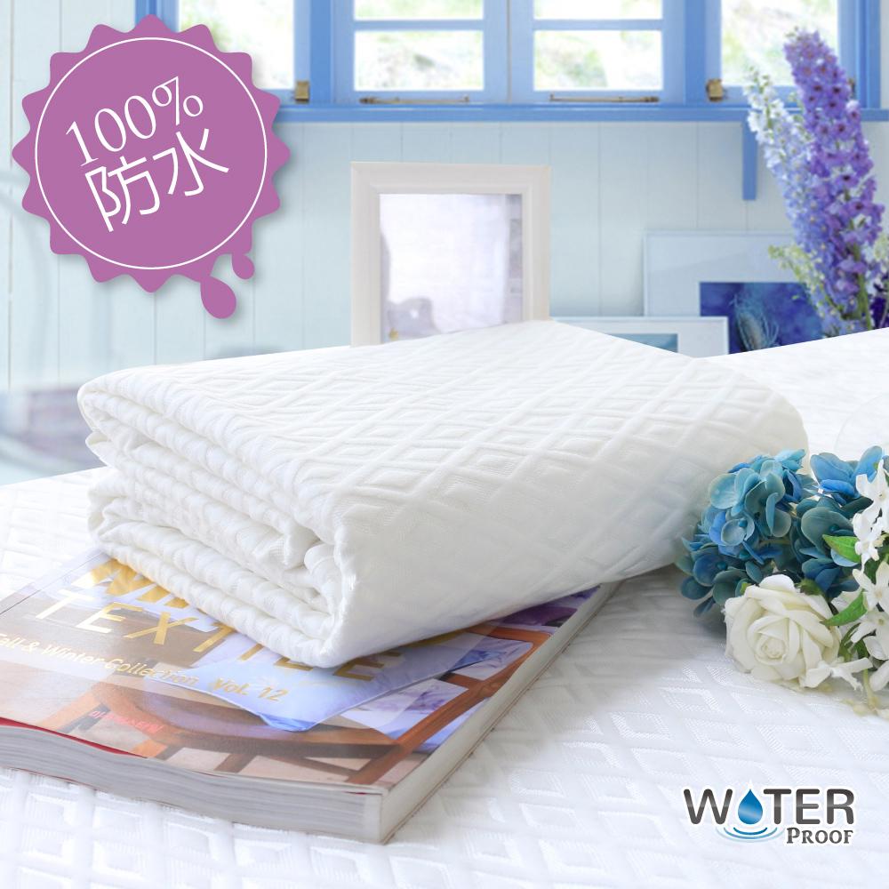 【R.Q.POLO】100%極度防水雲墊/防尿墊/防水床墊/護理級 平單保潔墊(台灣製造)