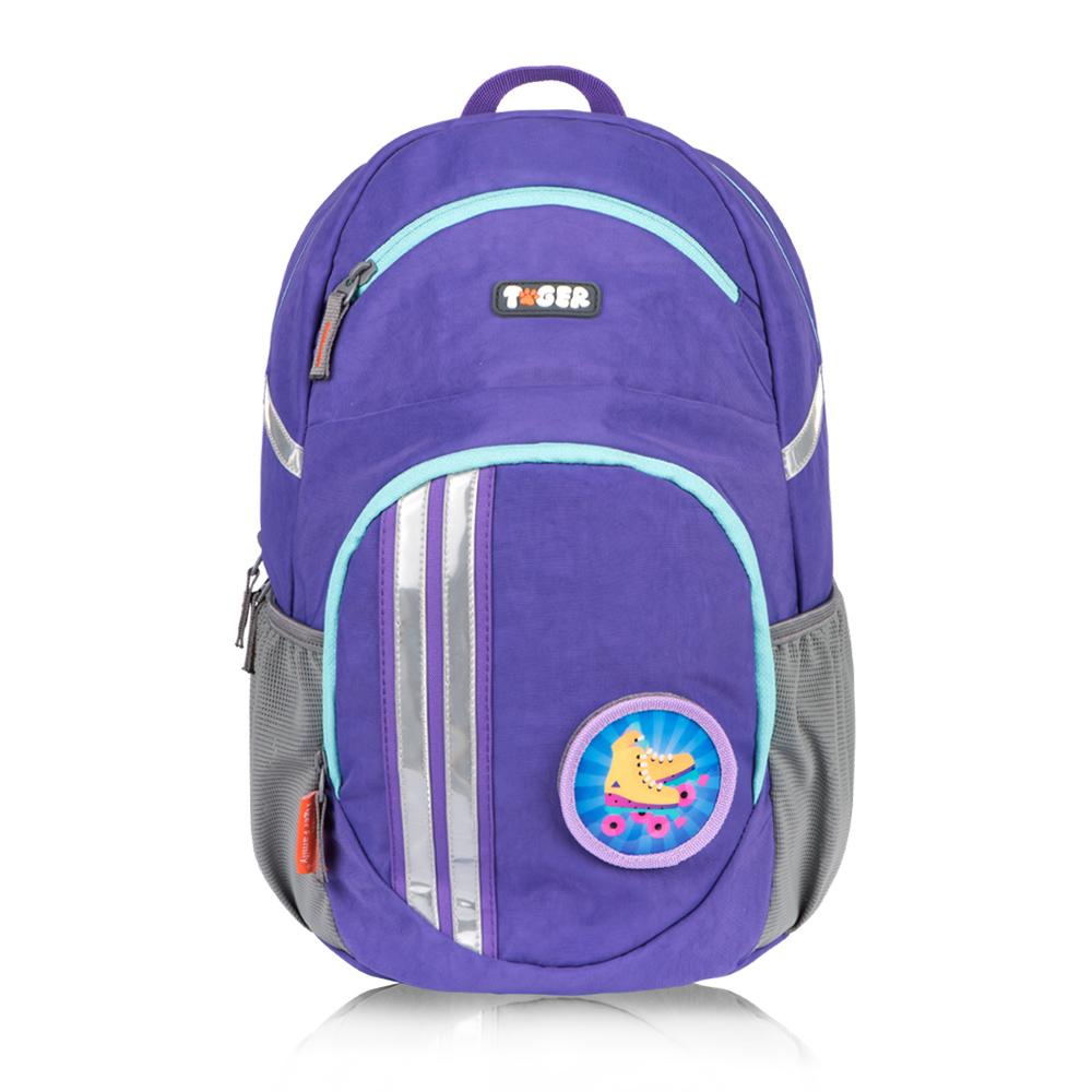 TigerFamily躍動護脊休閒書包-薰衣草紫