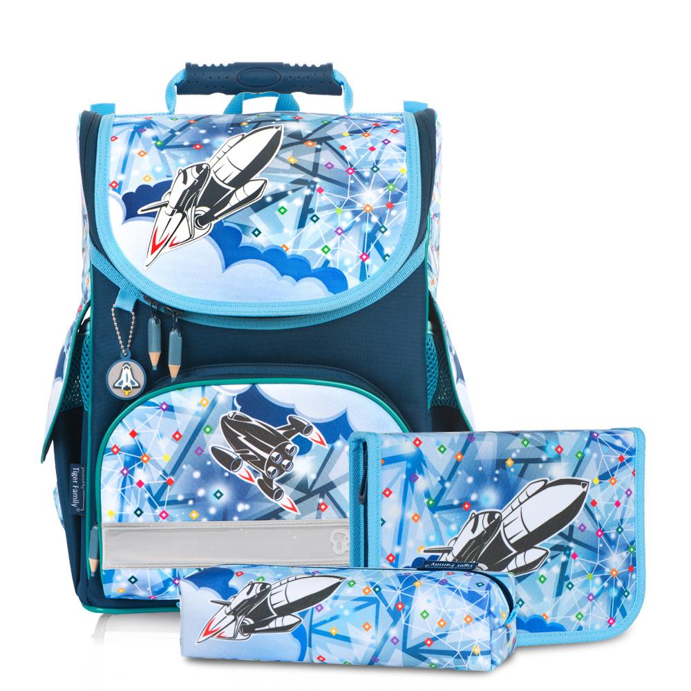 ▶2018新款▶Tiger Family小貴族超輕量護脊書包+文具袋+鉛筆盒-夢想火箭  (1~2年級)