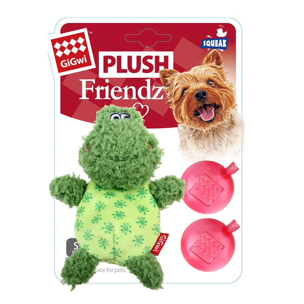 GiGwi朋友不嫌多-小蛙啾啾絨毛玩具