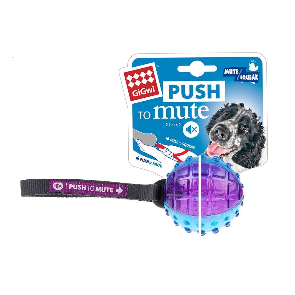GiGwi無聲勝有聲-圓球玩具(紫藍)