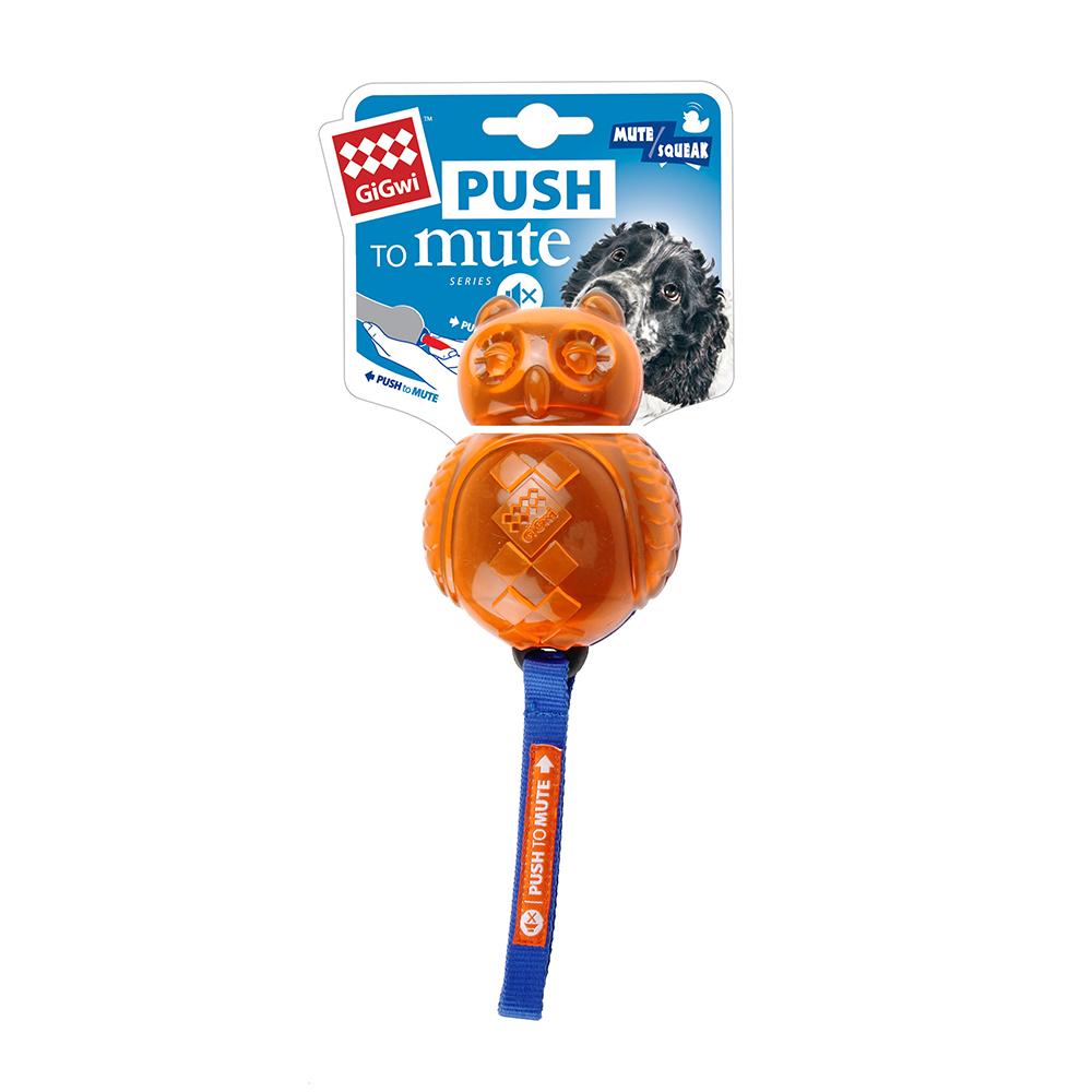 GiGwi無聲勝有聲-貓頭鷹玩具(藍橘)