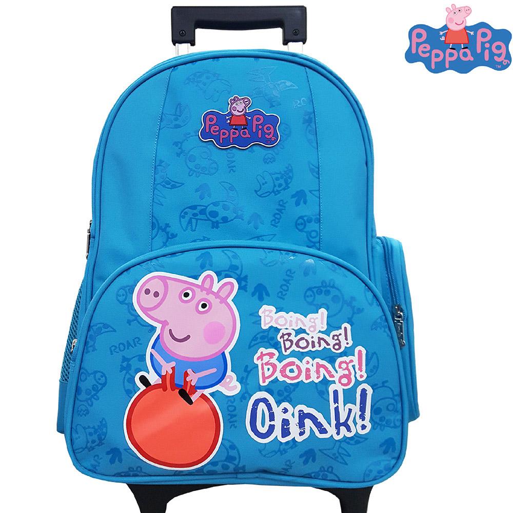 Peppa Pig 粉紅豬 可拆式鋁合金拉桿(藍_A)PP572200A
