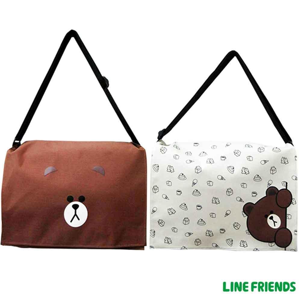 LINE FRIENDS MIT側背包(米)LI541800B