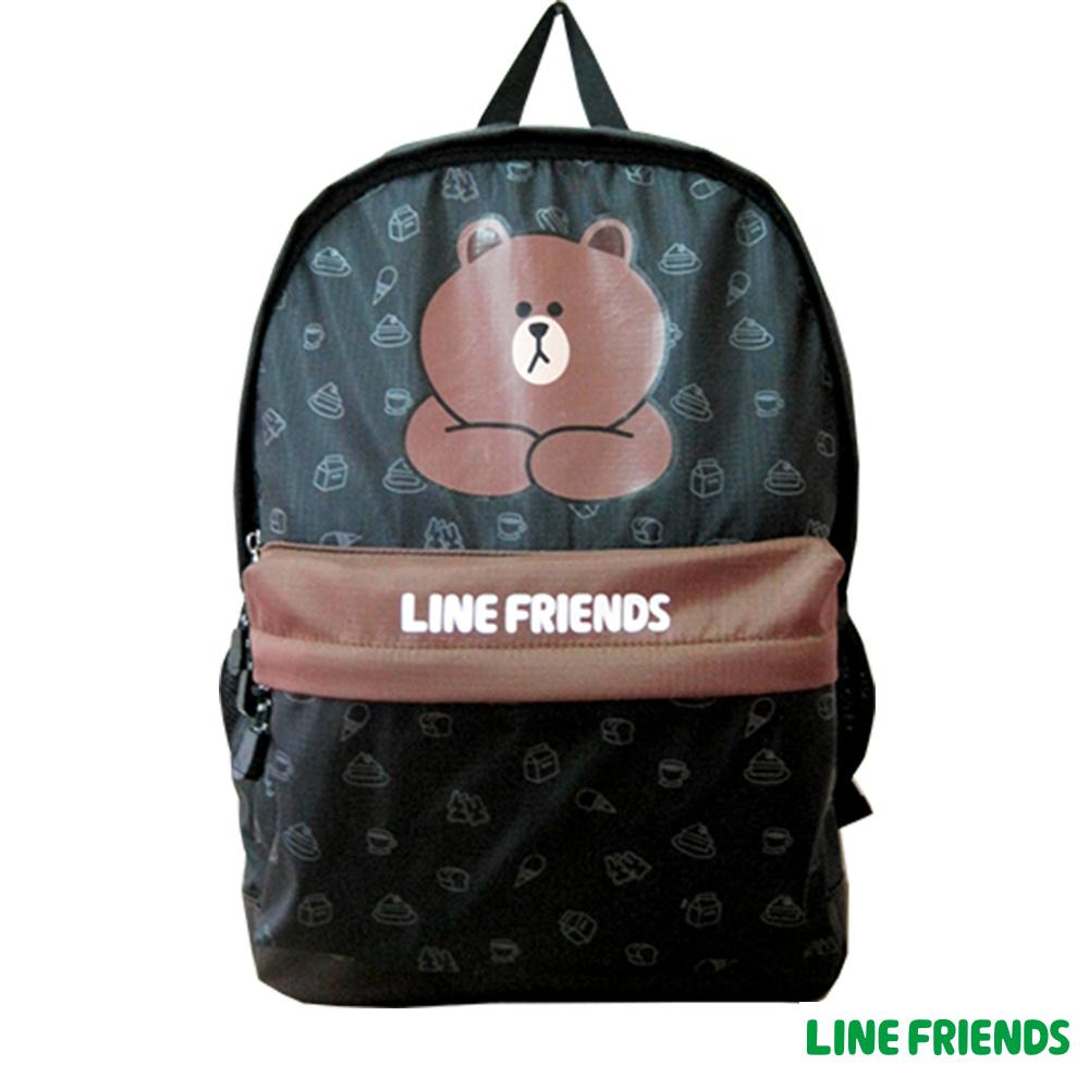 LINE FRIENDS 休閒後背包(黑)LI545600A