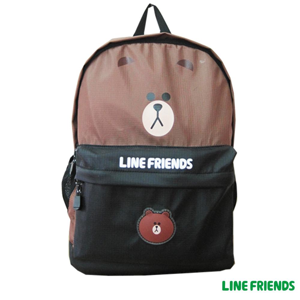 LINE FRIENDS 休閒後背包(咖)LI545600B